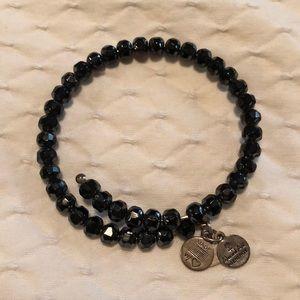 Alex and Ani black wrap bracelet